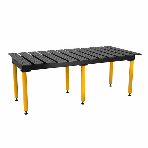 """BuildPro® TMQA59446, 8' x 4' MAX Slotted Welding Table, Nitrided Finish, Heavy-Duty Legs, Table Surface Height 36.5"""""""