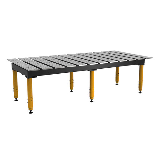 """BuildPro® TMR59446, 8' x 4' MAX Slotted Welding Table, Standard Finish, Adjustable Heavy-Duty Legs, Table Surface Height 28.5"""" - 38.5"""""""