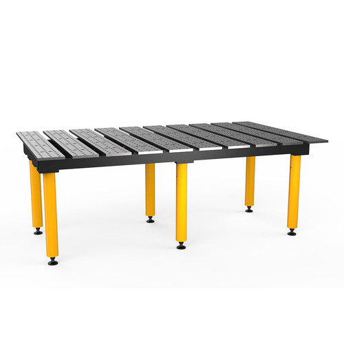 """BuildPro® TMB57846, 6-1/2' x 4' MAX Slotted Welding Table, Standard Finish, Heavy-Duty Legs, Table Surface Height 30.5"""""""
