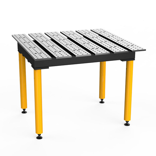 """BuildPro® TMB54746, 4' x 4' MAX Slotted Welding Table, Standard Finish, Heavy-Duty Legs, Table Surface Height 30.5"""""""