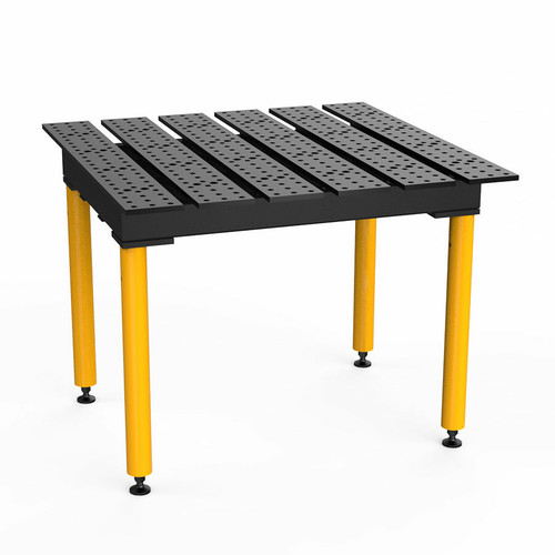 """BuildPro® TMQA54746, 4' x 4' MAX Slotted Welding Table, Nitrided Finish,  Heavy-Duty Legs, Table Surface Height 36.5"""""""