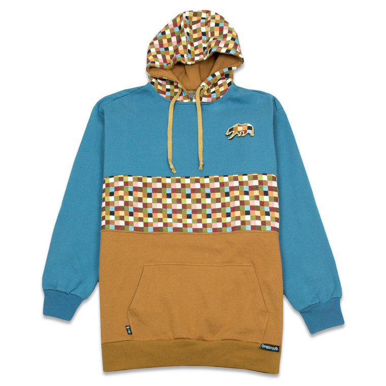 Patch Work Tall Pullover Hoodie