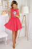 Tulle Bottom Dress  -  Coral