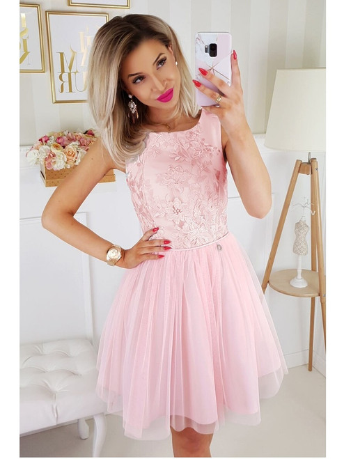 Tulle Bottom Dress  -  Pink