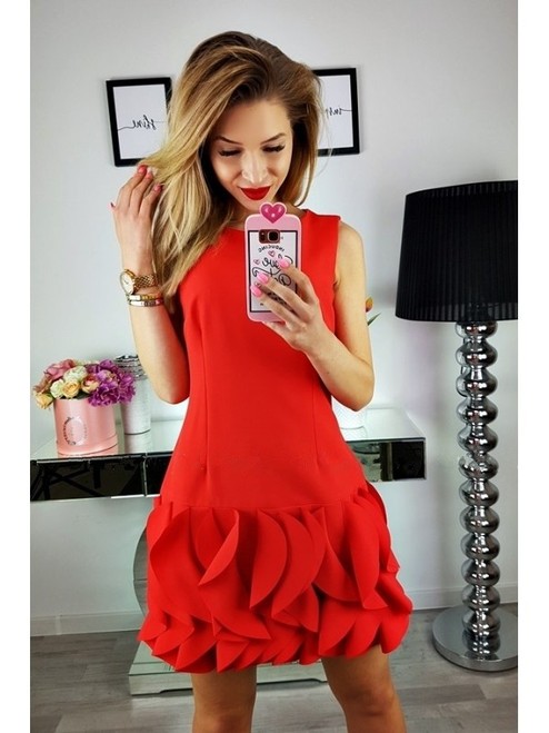 Dress with Frill Bottom