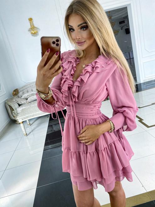 Monica Dress - Pink