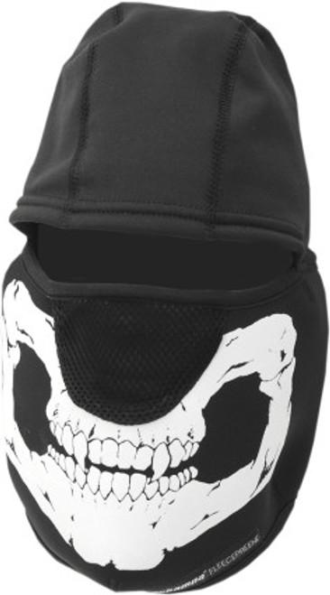 Black/White - Schampa Fleeceprene Skull Balaclava
