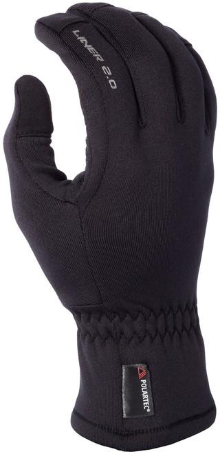Mens  - Black - Klim Liner 2.0 Base Layer Glove Liners