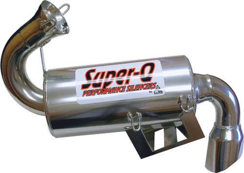 Skinz Polished Ceramic Super-Q Silencer For 2010 Polaris Indy 800 Switchback