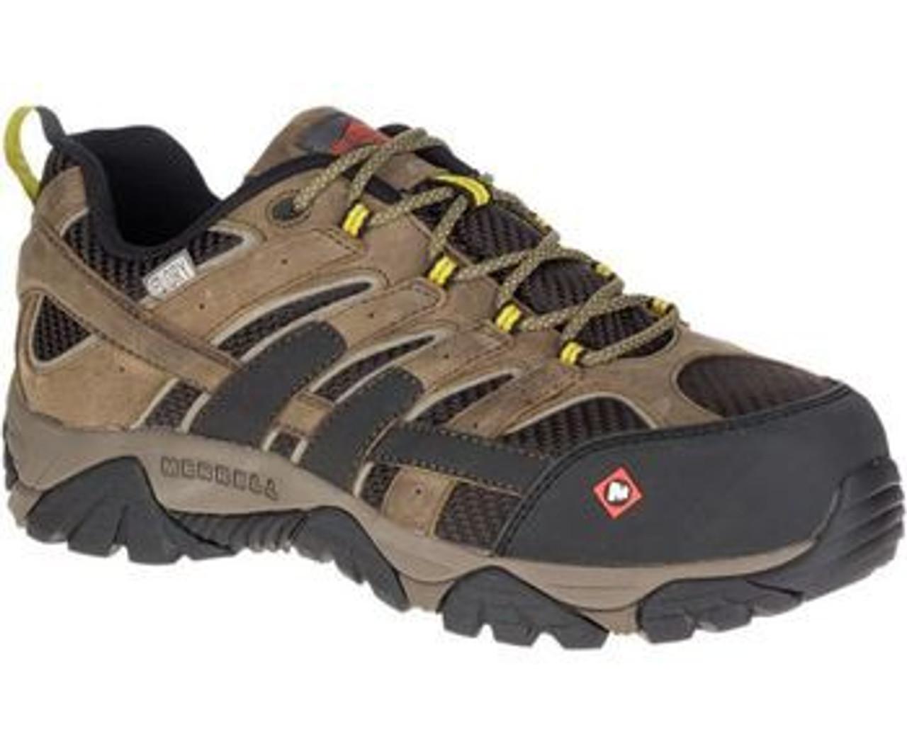 e32f99c1487 Merrell Work Moab 2 Wp Safety Toe Shoe Boulder 15773