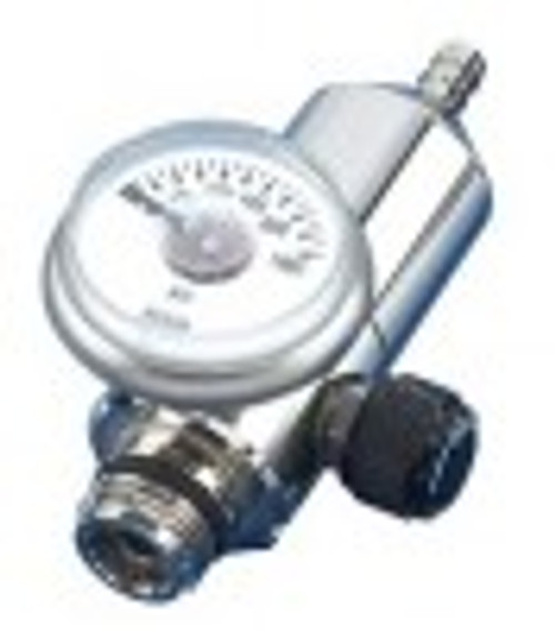 Fixed flow regulator with on/off switch