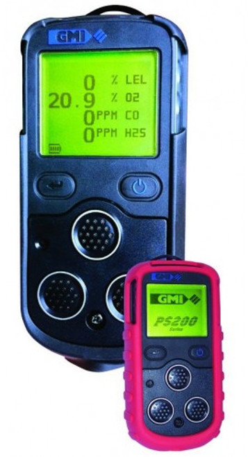 PS200 Multi Gas Detector with and without protective boot Point Safety