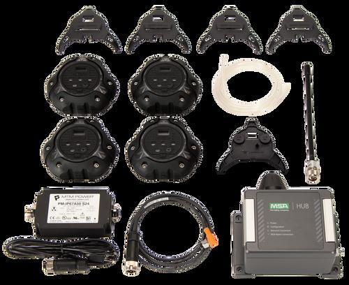 MSA io360 Area Gas Detector Kit - Black