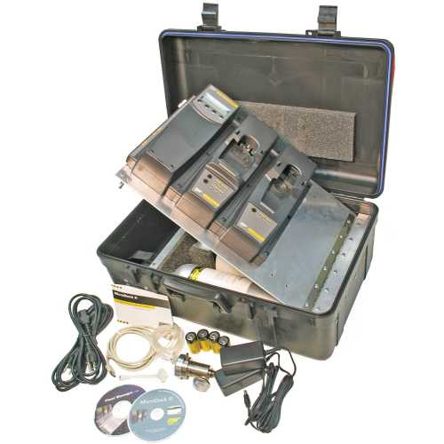 Hard-sided carrying case with space for 1 module and one 34 L gas cylinder