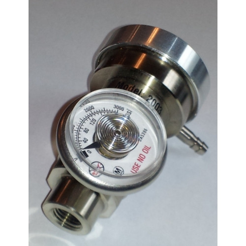 Demand flow regulator for disposable steel cylinders