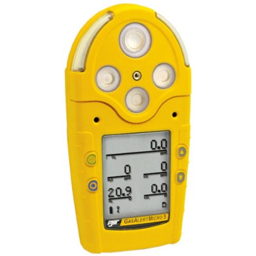 BW Gas Alert Micro 5  - Multi Gas Detector - Front View