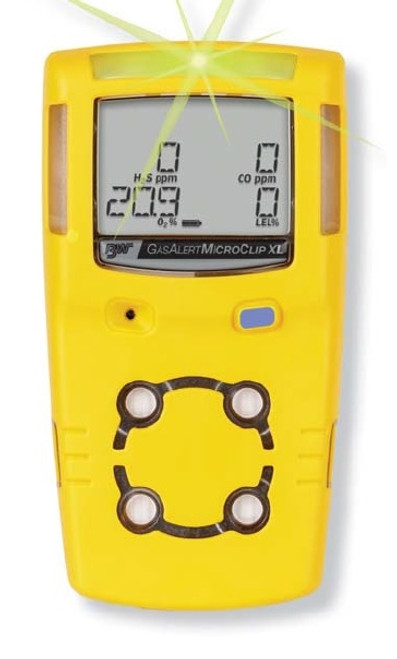 BW Gas Alert Microclip XL multi gas monitor front view