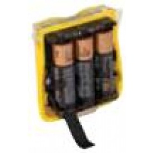 Alkaline battery pack with batteries- yellow