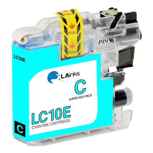 Brother LC-10E (LC10EC) Super High Yield Cyan Ink Cartridge (Compatible)