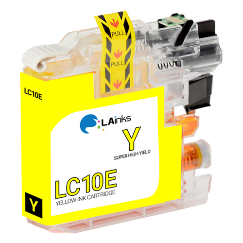 Brother LC-10E (LC10EY) Super High Yield Yellow Ink Cartridge (Compatible)