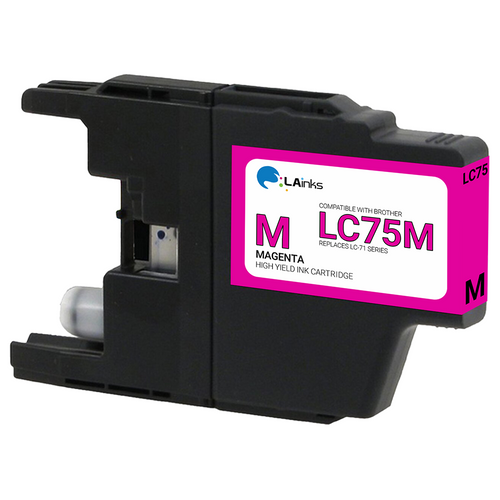 Brother LC-75 (LC75M) High Yield Magenta Ink Cartridge (Compatible)