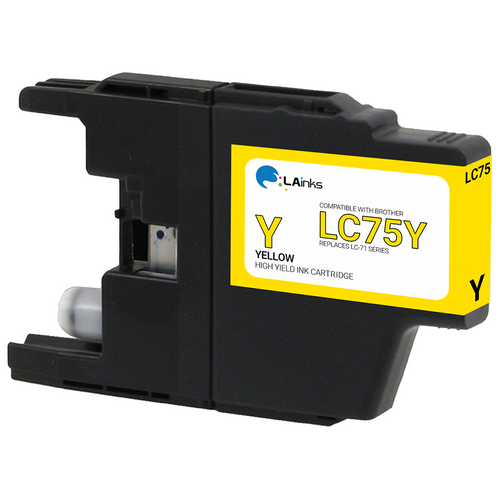 Brother LC-75 (LC75Y) High Yield Yellow Ink Cartridge (Compatible)
