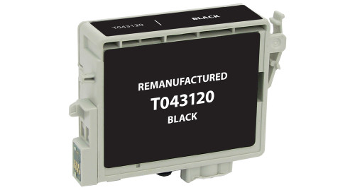 Epson T0431 (T043120) High Yield Black Ink Cartridge (Remanufactured)