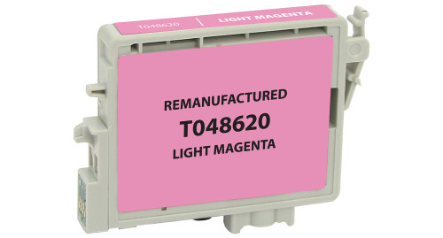 Epson T0486 (T048620) Light Magenta Ink Cartridge (Remanufactured)