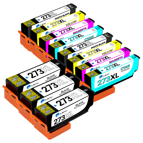 Epson T273XL High Yield Ink Cartridge 11PK - 3 Black, 2 Photo Black, 2 Cyan, 2 Magenta, 2 Yellow (Remanufactured)