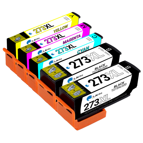 Epson T273XL High Yield Ink Cartridge 5PK - 1 Black, 1 Cyan, 1 Magenta, 1 Yellow, 1 Photo Black (Remanufactured)
