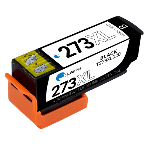 Epson T273XL (T273XL020) High Yield Black Ink Cartridge (Remanufactured)