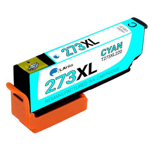 Epson T273XL (T273XL220) High Yield Cyan Ink Cartridge (Remanufactured)