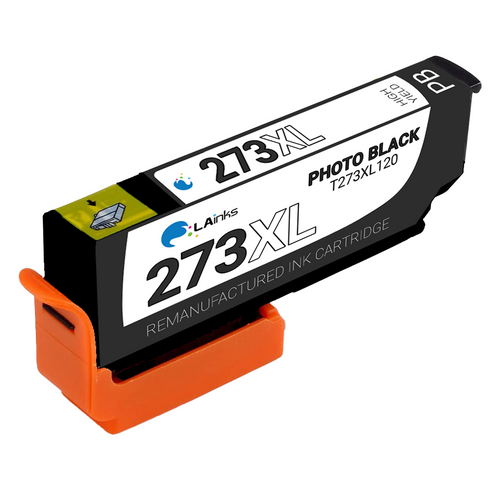 Epson T273XL (T273XL120) High Yield Photo Black Ink Cartridge (Remanufactured)