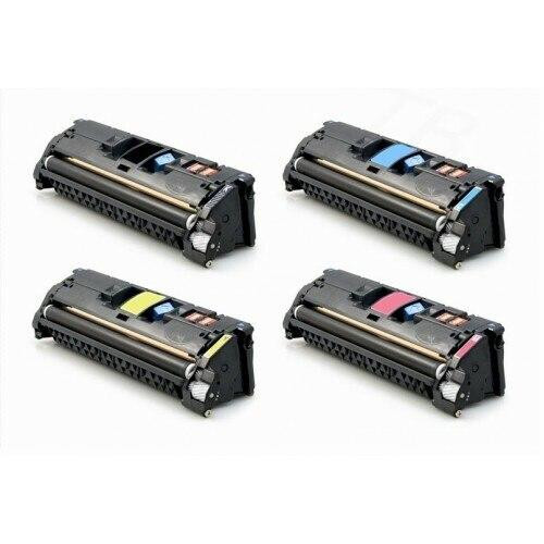 LAinks Replacement for HP 121A Toner Cartridges 4PK 1ea BCMY Combo HP_121A-4PK