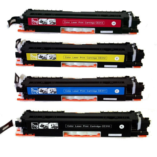 LAinks Replacement for HP 126A Toner Cartridges 4PK 1ea BCMY Combo HP_126A-4PK