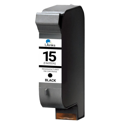 LAinks Replacement for HP 15 C6615DN Black Ink Cartridge HP_15