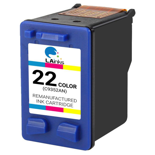 LAinks Replacement for HP 22 C9352AN Color Ink Cartridge HP_22