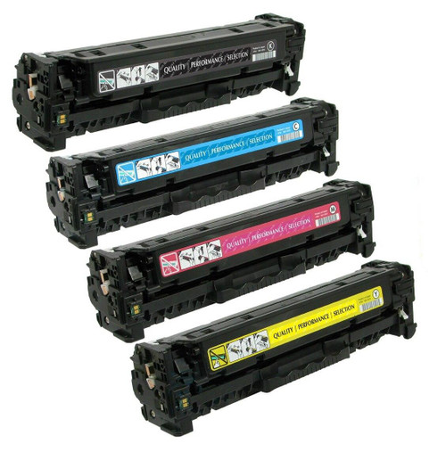 LAinks Replacement for HP 305A Toner Cartridges 4PK 1ea BCMY Combo HP_305A-4PK