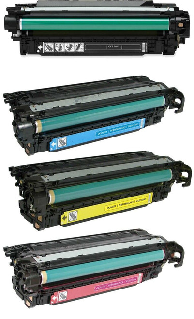 LAinks Replacement for HP 504X/504A Toner Cartridges 4PK 1ea BCMY Combo HP_504X504A-4PK