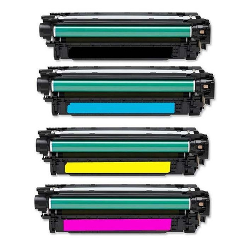 LAinks Replacement for HP 507A Toner Cartridges 4PK 1ea BCMY Combo HP_507A-4PK