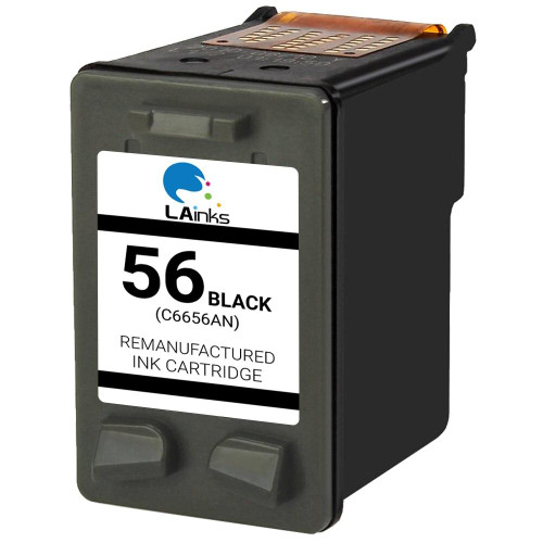 LAinks Replacement for HP 56 C6656AN Black Ink Cartridge HP_56