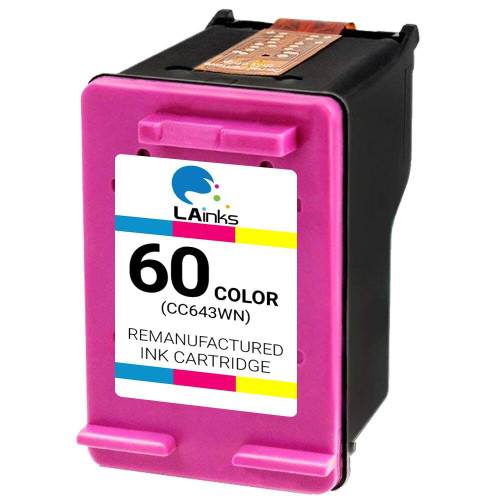 LAinks Replacement for HP 60 CC643WN Color Ink Cartridge HP_60-C
