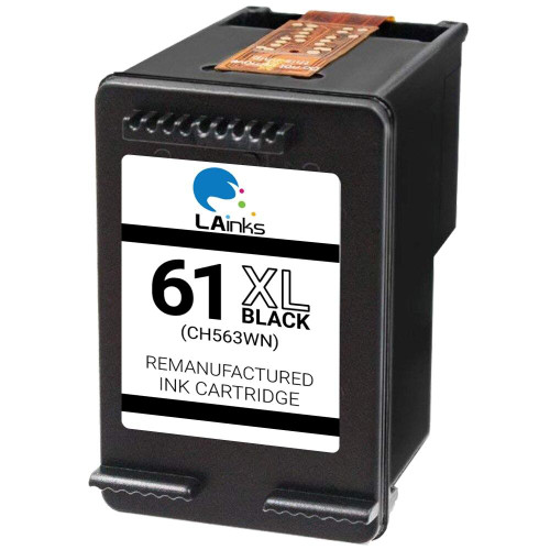 LAinks Replacement for HP 61XL CH563WN High Yield Black Ink Cartridge HP_61XL-B NG