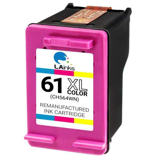 LAinks Replacement for HP 61XL CH564WN High Yield Color Ink Cartridge HP_61XL-C NG