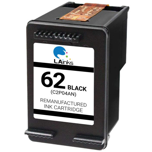 LAinks Replacement for HP 62 C2P04AN Black Ink Cartridge HP_62-B