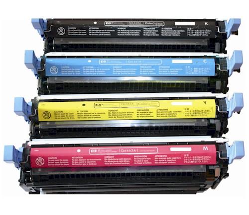 HP 644A Laser Toner Cartridge 4PK - Black, Cyan, Magenta, Yellow (Remanufactured)
