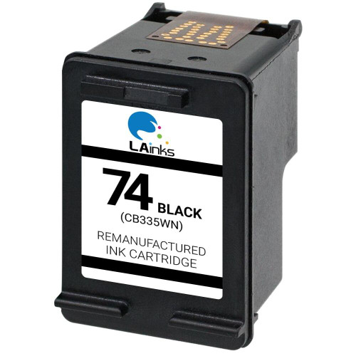 LAinks Replacement for HP 74 CB335W Black Ink Cartridge HP_74