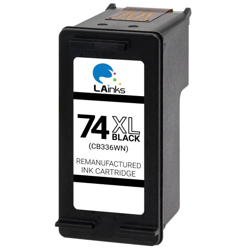 LAinks Replacement for HP 74XL CB336W High Yield Black Ink Cartridge HP_74XL