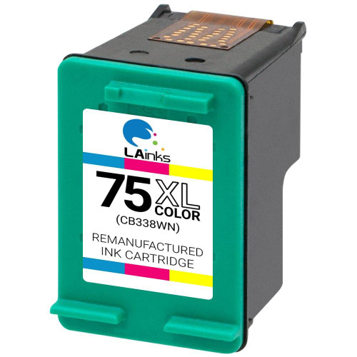 LAinks Replacement for HP 75XL CB338W High Yield Color Ink Cartridge HP_75XL