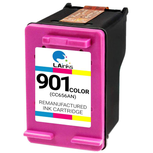 LAinks Replacement for HP 901 CC656AN Color Ink Cartridge HP_901-C